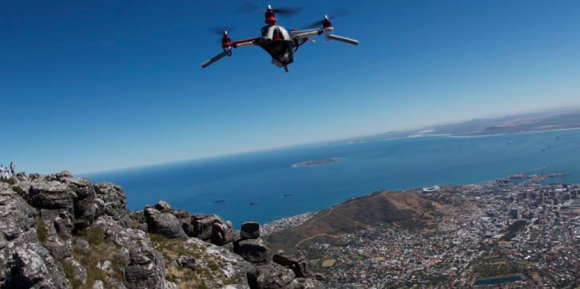 Ripslix productions, Tom Court Flying drone off of table mountain